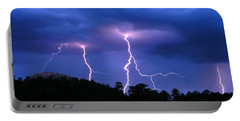 Multi Arc Lightning Strike Portable Battery Charger by Craig T Burgwardt