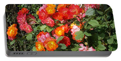 Multi Colored Rose Bush Portable Battery Charger by Catherine Gagne
