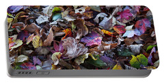 Portable Battery Charger featuring the photograph Multicolored Autumn Leaves by Rona Black
