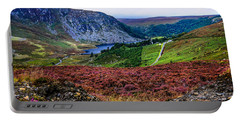 Multicolored Carpet Of Wicklow Hills. Ireland Portable Battery Charger