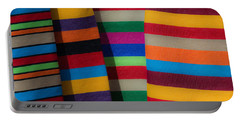 Multicolour Horizontal Line Portable Battery Charger