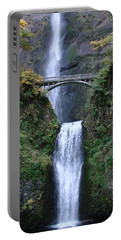 Multnomah Falls Portable Battery Charger by Athena Mckinzie