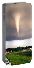 Mulvane Tornado With Storm Chasers Portable Battery Charger by Jason Politte