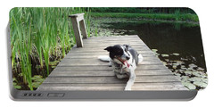 Mundee On The Dock Portable Battery Charger by Michael Porchik