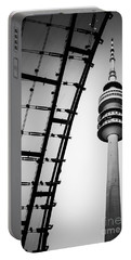 Munich - Olympiaturm And The Roof - Bw Portable Battery Charger