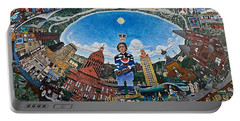Mural Of Stephen F Austin Off Guadalupe Portable Battery Charger
