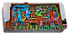 Mural On School Portable Battery Charger