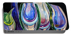 Portable Battery Charger featuring the painting Murano Crystal by Roger Rockefeller