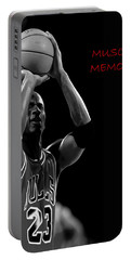 Portable Battery Charger featuring the painting Muscle Memory by Brian Reaves