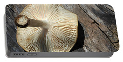 Portable Battery Charger featuring the photograph Mushroom On Stump by Tina M Wenger