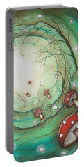 Mushroom Time Tunel Portable Battery Charger