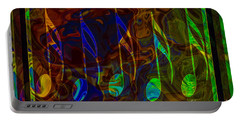 Music Is Magical Abstract Healing Art Portable Battery Charger