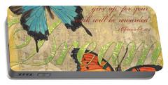 Musical Butterflies 1 Portable Battery Charger by Debbie DeWitt