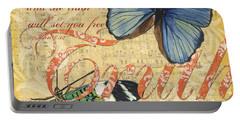Musical Butterflies 3 Portable Battery Charger by Debbie DeWitt