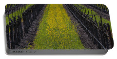 Mustard Grass In Vineyards Portable Battery Charger