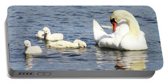 Portable Battery Charger featuring the photograph Mute Swans by Alyce Taylor