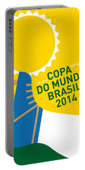 My 2014 World Cup Soccer Brazil - Rio Minimal Poster Portable Battery Charger by Chungkong Art