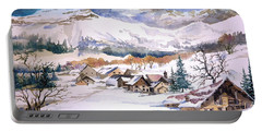 My First Snow Scene Portable Battery Charger by Alban Dizdari