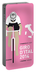 My Giro D Italia Minimal Poster 2014 Portable Battery Charger by Chungkong Art
