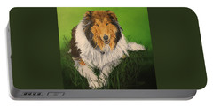 Portable Battery Charger featuring the painting My Guardian  by Wendy Shoults