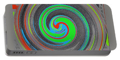 Portable Battery Charger featuring the digital art My Hurricane by Catherine Lott