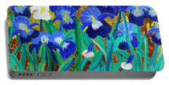 My Iris - Inspired  By Vangogh Portable Battery Charger