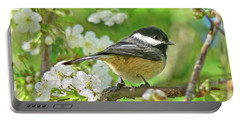 My Little Chickadee In The Cherry Tree Portable Battery Charger