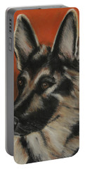 Portable Battery Charger featuring the painting My Sadie by Jeanne Fischer