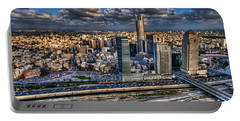 Portable Battery Charger featuring the photograph My Sim City by Ron Shoshani