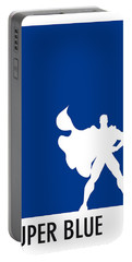 My Superhero 03 Super Blue Minimal Poster Portable Battery Charger