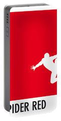 My Superhero 04 Spider Red Minimal Poster Portable Battery Charger