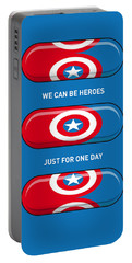 My Superhero Pills - Captain America Portable Battery Charger