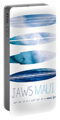 My Surfspots Poster-1-jaws-maui Portable Battery Charger