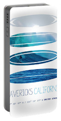 My Surfspots Poster-2-mavericks-california Portable Battery Charger
