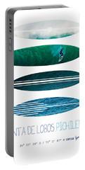 My Surfspots Poster-3-punta De Lobos-chile Portable Battery Charger