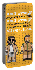 My The Big Lebowski Lego Dialogue Poster Portable Battery Charger