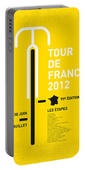 My Tour De France Minimal Poster 2012 Oud Portable Battery Charger