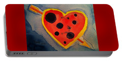 Portable Battery Charger featuring the painting Imperfect Love by Rand Swift