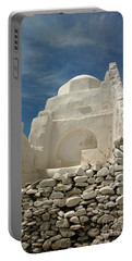 Portable Battery Charger featuring the photograph Mykonos Church by Vivian Christopher