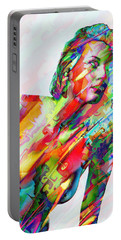 Portable Battery Charger featuring the mixed media Myriad Of Colors by Kiki Art