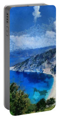 Myrtos Beach In Kefallonia Island Portable Battery Charger