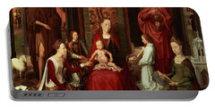 Mystic Marriage Of St. Catherine And Other Saints Portable Battery Charger