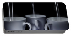 Portable Battery Charger featuring the photograph Mystic Tea Cups - Light Painting by Steven Milner