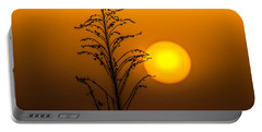 Mystical Sunset Portable Battery Charger by Shelby  Young
