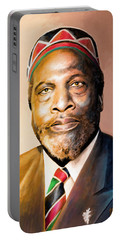 Mzee Jomo Kenyatta Portable Battery Charger by Anthony Mwangi