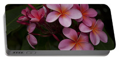 Na Lei Pua Melia O Wailua - Pink Tropical Plumeria Hawaii Portable Battery Charger