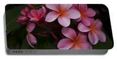 Na Lei Pua Melia O Wailua - Pink Tropical Plumeria Hawaii Portable Battery Charger