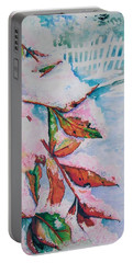 Nandina In Snow Portable Battery Charger