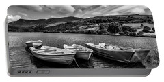 Portable Battery Charger featuring the photograph Nantlle Uchaf Boats by Adrian Evans