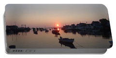Portable Battery Charger featuring the photograph Nantucket Sunrise by Robert Nickologianis